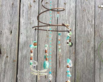 Turquoise, Brown and Crystal Whimsy