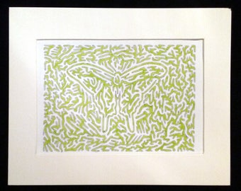 Green Butterfly - Original Artwork