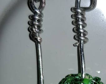 Pavè drop earrings