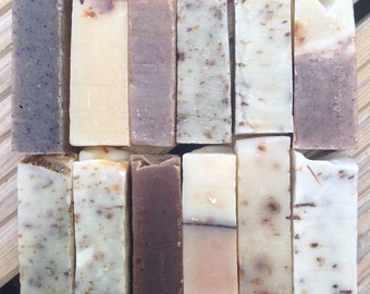 5 Assorted Soap Samples, Party Bag, Natural Soaps, Mixed Pack, Handmade
