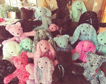 Sandi's Sweeties are soft, loveable, cute and cuddly stuffed animals that you can't keep your hands off!