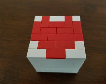 Lego Engagement Ring Box - White/Red