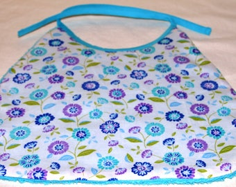 """bib """"flowers"""" from 6 to 18 months"""
