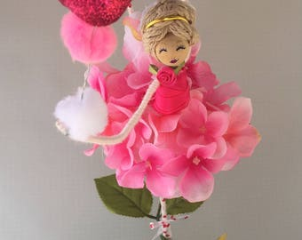 Handcrafted ornaments Flower ballerina Doll, Flower Fairy Doll, Girl's Room, Handcrafted Fairy Doll, Fairy, Birthday Gift, Room Decoration,