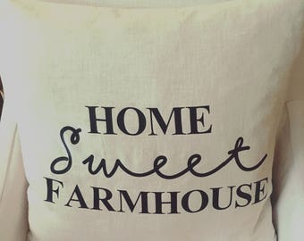 Home Sweet Farmhouse Pillow / Farmhouse decor / Rustic