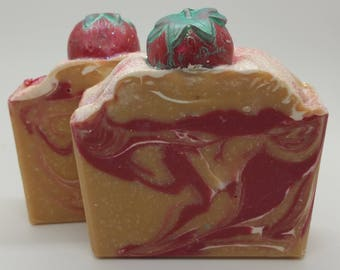 Strawberry Champagne Artisan Soap