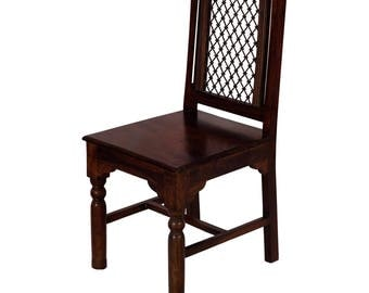 Grill Back wooden Chair - solid wooden Fast shipping and cheap