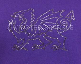 Sparkly Dragon Embellished Top
