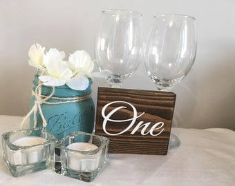 Wooden table numbers/Wedding table decor|Wedding Decor|Rustic Wedding Decor