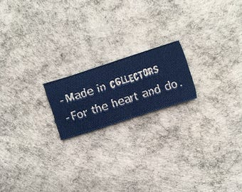 300 Custom Labels For Clothing, Woven Fabric Label, Clothing Labels Custom, Fabric Clothing Tags, Sew Woven Label, Clothing Label Sew On