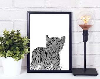 Jaguar decor, jaguar decal, safari animal prints, safari animals, safari animal nursery decor, safari animal print nursery