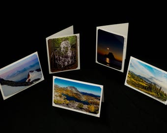 Set of Five Blank Photo Cards, Original Landscape Photography by Bobby Olsen (Landscape Pack #2)