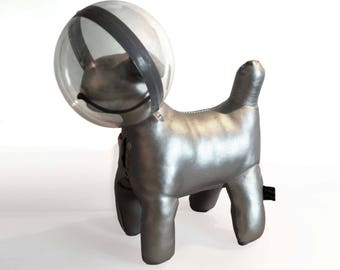 Toy made Mait dog house in space - Space dog art
