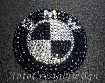 PROMO!!! BMW Steering Wheel Badges Covered With High Quality Crystals Swarovski