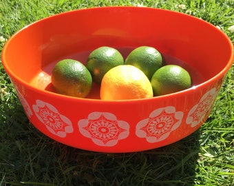 1970s Buchsteiner orange bowl