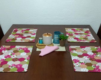 Set of 4 placemats in EntelaHome. Quilt & Patchwork