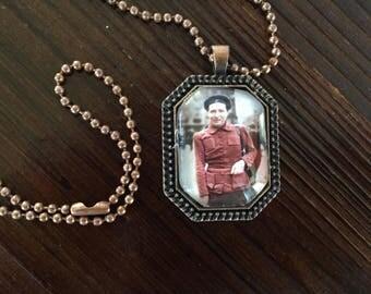 Simone de Beauvoir pendant necklace