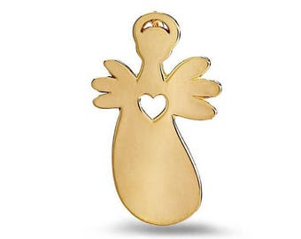 Guardian Angel - Heart - Gold