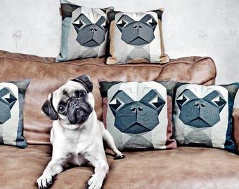Kissenbezug Mops Ssser Ssses Design Niedlicher Hund Wohnzimmer Einrichtung