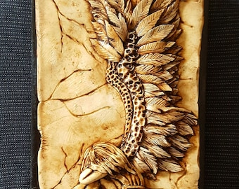 Broken Angel, Polymer Clay Book Cover. Journal, notebook.