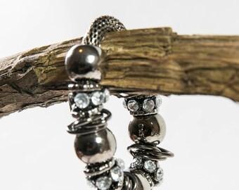 Pearl/Diamante Antique Bracelet(DF/BL/NOO78)