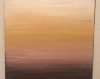 """Sunset. 20"""" x 16"""" on canvas"""