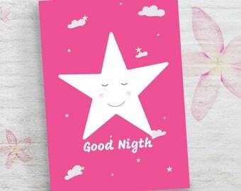 Baby shower gift, Nursery decor, Nursery decor, Kids Room Painting, Nursery Wall Art, Nursery Print Kids, Baby Girl Room Decor, Star