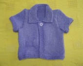 Short sleeves for little girls Cardigan