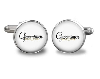 Wedding cufflinks groomsmen cufflinks bridal party cuff links mens cufflinks glass cufflinks silver cufflinks mens cuff links