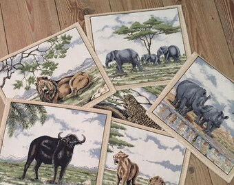 Placemats African Big 5. Set of 6
