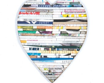 Recycled Rolled Magazine Paper- Heart