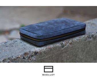 Purse W023, Leather porte-monnaie, Womens wallet, Leather purse, Clutch bag, Leather pouch, Leather wallet, Zip wallet, Travel Wallet