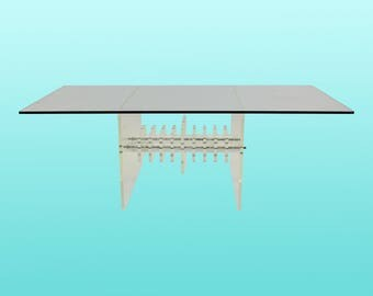 Modernish Lucite Coffee Table - Sculptural Coffee Table