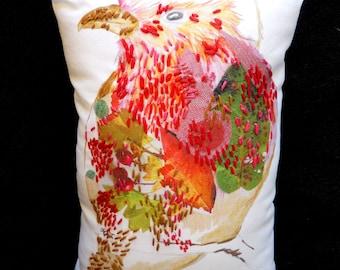Robin Collage cushion