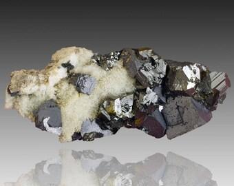 Sphalerite & Galena; Mogilata deposit, Septemvri mine, Madan ore field, Rhodope Mts, Smolyan Oblast, Bulgaria  --- fine and rare minerals