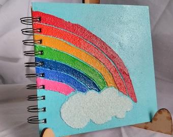 Medium Mixed Media Rainbow Notebook / Book/ Journal