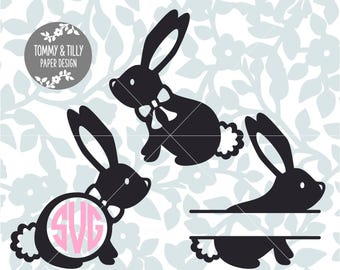 Bunny SVG - Silhouette, Cricut, Cutting File, Animal svg, Digital Download, dxf, png, jpg, pdf