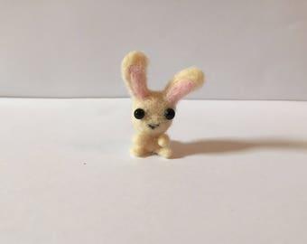 Mini Cream White Bunny Plush | Needle Crafted Gift | Cute Keychain