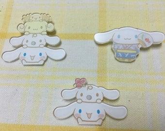 Set of 3, Cinnamoroll, Cinnamoroll pins, Cinnamoroll brooch