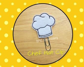 Planner Clip Chef Hat-Planner Clip-Planner Accesories-Planner Supplies- Paper Clip-Chef Hat Feltie-Chef Hat Paper Clip-Journal Clip