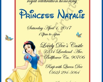 Disney Princess, Snow White And the Seven Dwarfs, Snow White Birthday Invitations