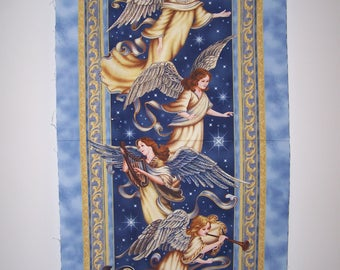 Angel In The Sky Panel With Coordinating Fabric