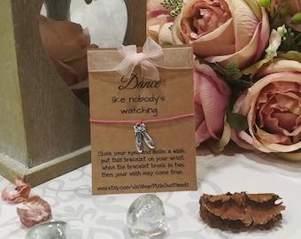 Ballerina Wish Bracelet, Dance Wish Bracelet, Ballet Bracelet, Ballerina Gift, Dance Gift, Girls Bracelet, Ballet, Ballerina bracelet, Gift