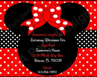 Minnie Mouse Printable Birthday Invitation