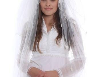 Original Vintage 1970s White Wedding Dress