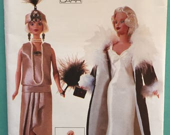 Vogue Craft Linda Carr Fashion Doll Pattern 7162 Roaring 20s Flapper! Uncut
