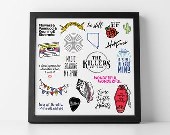 The Killers Illustrated Collage Print