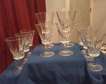 Sorrento by Fidenza Vetraria water and wine glasses