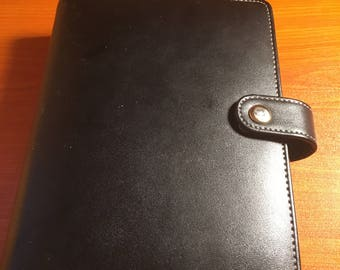 Small Black Leather Binder