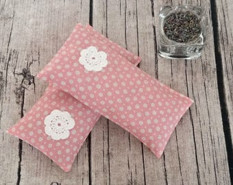 Pink Lavender Sachets Set / Anti Moth Bag / Aroma Cushion / Handmade / Practical Gift / New Home Gift / Ready To Ship